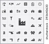 simple economy icons set.... | Shutterstock .eps vector #393640630