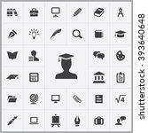 simple education icons set.... | Shutterstock .eps vector #393640648