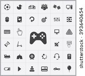 simple game icons set....