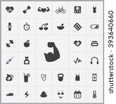 simple fitness icons set....