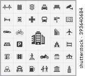 simple city icons set....