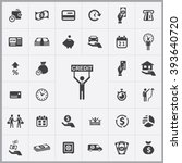 simple credit icons set....