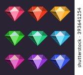 cartoon vector diamonds icons...