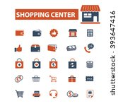 shopping mall icons  | Shutterstock .eps vector #393647416