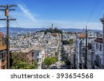 the coit tower  saints peter... | Shutterstock . vector #393654568
