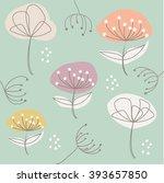 seamless floral pattern   Shutterstock .eps vector #393657850