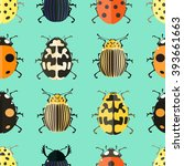 seamless pattern with colorful...   Shutterstock .eps vector #393661663