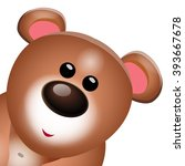 Sweet Teddy Bear Cartoon...