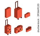 travel suitcase   Shutterstock .eps vector #393669133
