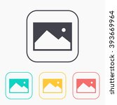 color icon set of image photo