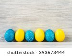 Bright Yellow And Blue Easter...