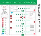evacuation plan | Shutterstock .eps vector #393675034