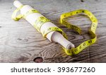 rolling pin and meter | Shutterstock . vector #393677260