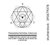 transmutation circles  ... | Shutterstock .eps vector #393679378