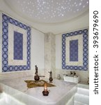 traditional turkish marble... | Shutterstock . vector #393679690