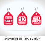 special offer sale tag discount ... | Shutterstock .eps vector #393685594