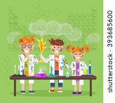 chemistry laboratory  chemistry ... | Shutterstock . vector #393685600