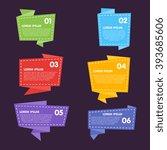 origami sticker. vector...   Shutterstock .eps vector #393685606