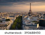 paris during the sunset. you... | Shutterstock . vector #393688450