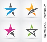 four colorful stars icon set... | Shutterstock .eps vector #393690169