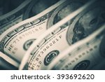 Dollars Closeup Concept. American Dollars Cash Money. One Hundred Dollar Banknotes. - stock photo