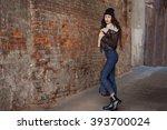 outdoor lifestyle portrait of... | Shutterstock . vector #393700024