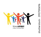 team   teamwork  excited... | Shutterstock .eps vector #393700696
