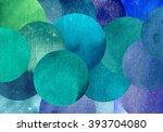beautiful abstract circles... | Shutterstock . vector #393704080