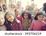 students children cheerful... | Shutterstock . vector #393706219