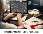 business plan budget target... | Shutterstock . vector #393706258