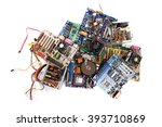 computer parts  isolated on... | Shutterstock . vector #393710869