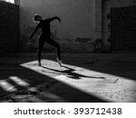 young modern ballet dancer... | Shutterstock . vector #393712438