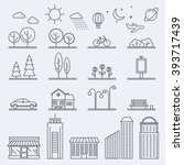 vector city illustration in... | Shutterstock .eps vector #393717439