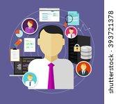 career in it information... | Shutterstock .eps vector #393721378