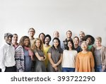 diversity people group team... | Shutterstock . vector #393722290