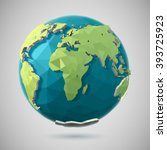 vector low poly earth... | Shutterstock .eps vector #393725923