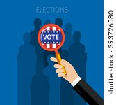 concept of election. us...   Shutterstock .eps vector #393726580