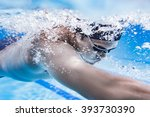 swimmer swimming competition... | Shutterstock . vector #393730390