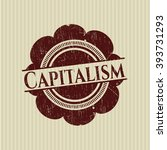 capitalism grunge style stamp | Shutterstock .eps vector #393731293