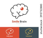 smile brain symbol icon. vector ... | Shutterstock .eps vector #393732880