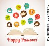 . haggadah book telling the... | Shutterstock .eps vector #393735640