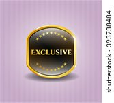 exclusive gold badge or emblem | Shutterstock .eps vector #393738484