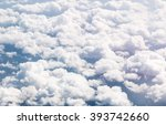 cloudscape blue sky and white... | Shutterstock . vector #393742660