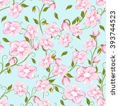 seamless pattern with pink... | Shutterstock .eps vector #393744523