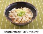 japanese cuisine   udon noodles | Shutterstock . vector #393746899