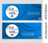 gift voucher. vector ... | Shutterstock .eps vector #393748363