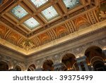 Ceiling Of Library Of Congress...
