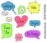 speech bubbles set. colorful... | Shutterstock .eps vector #393759340