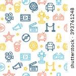 cinema background pattern... | Shutterstock .eps vector #393761248