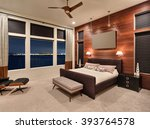 furnished master bedroom... | Shutterstock . vector #393764578